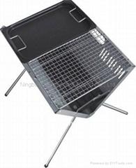 Folding Portable Slim Steel Charcoal BBQ Grills