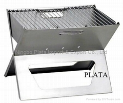 Folding Portable Notebook Stainless Steel Charcoal BBQ Grills