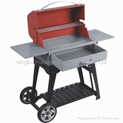 Folding Portable Suitcase Steel Charcoal BBQ Grills