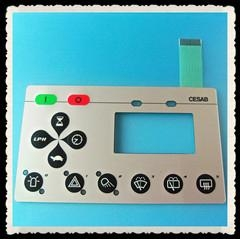 Tactile Membrane Switch with LCD Window