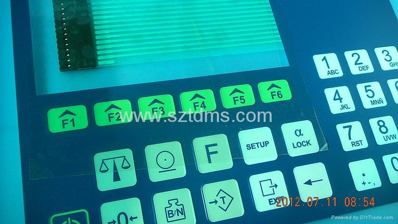 LCD membrane switch for control system  2