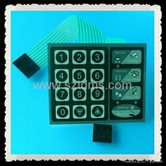 Membrane Switch Keypad with LED Inserted