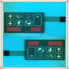 Electronic Membrane Keypad with LCD window
