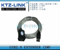 USB 2.0 extender (5Meter) support WIN98/2000/XP/VISTA/7