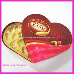 Paper chocolate box in heart-shaped
