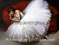 Ballet dancing oil painting craft