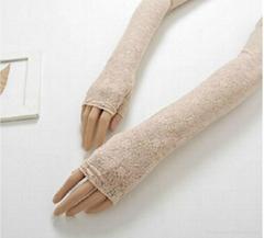 Hot Sale Fashion Pretty Long Fingerless Sun Gloves