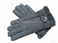 Ladies sheep fur gloves sheep woolen gloves cheap leather gloves winter gloves