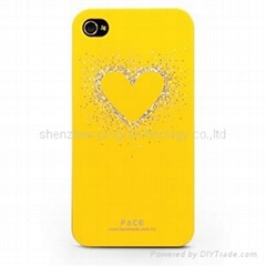 bling over design for iphone 4 4S/4G case cover