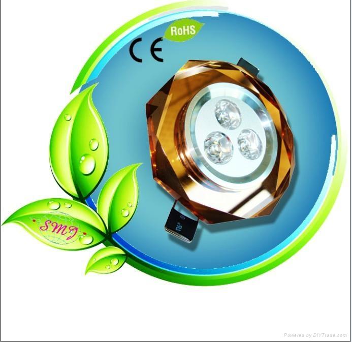 3pcs 4W full brightness elliptic crystal led ceiling lamp with energy saving 1