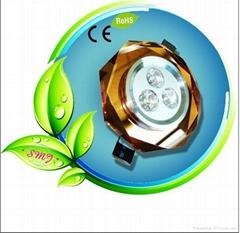 3pcs 4W full brightness elliptic crystal led ceiling lamp with energy saving