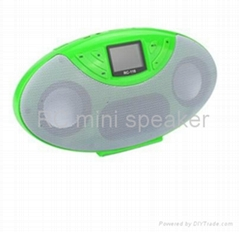 1.4 inch  LCD  mini speaker with USB and TF card function