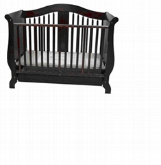 Wooden baby bed,baby cribs,Convertible