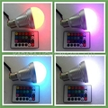 RGB led bulbs with IR remote controller 1