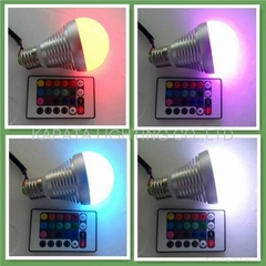 RGB led bulbs with IR remote controller