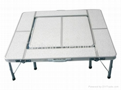 Siliver White Aluminum Camping Barbecue Table