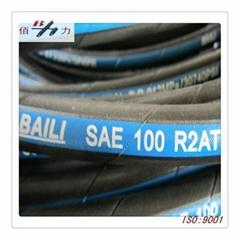 Braided hydraulic hose