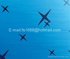Etched Colored  stainless steel sheets