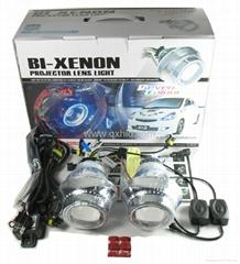 H1 H4 H7 9005 9006 Car HID Bi Xenon Headlights Projector With Angel Eye