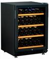 JH-103(風冷)雙溫154L 46瓶櫸木層架紅酒櫃 1