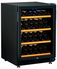 JH-103(风冷)双温154L 46瓶榉木层架红酒柜