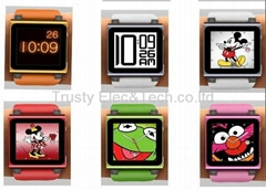 PC+Silicon watchband for iPod Nano 6