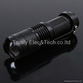 Mini LED Torch 7W 300LM CREE Q5 LED Flashlight Adjustable Focus Zoom flash Light