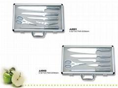 Cutlery set in alumimun case