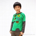 Children pure cotton long-sleeved T-shirt child