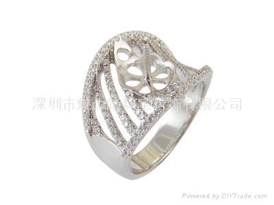 魅力饰18K金珍珠戒指空托 1