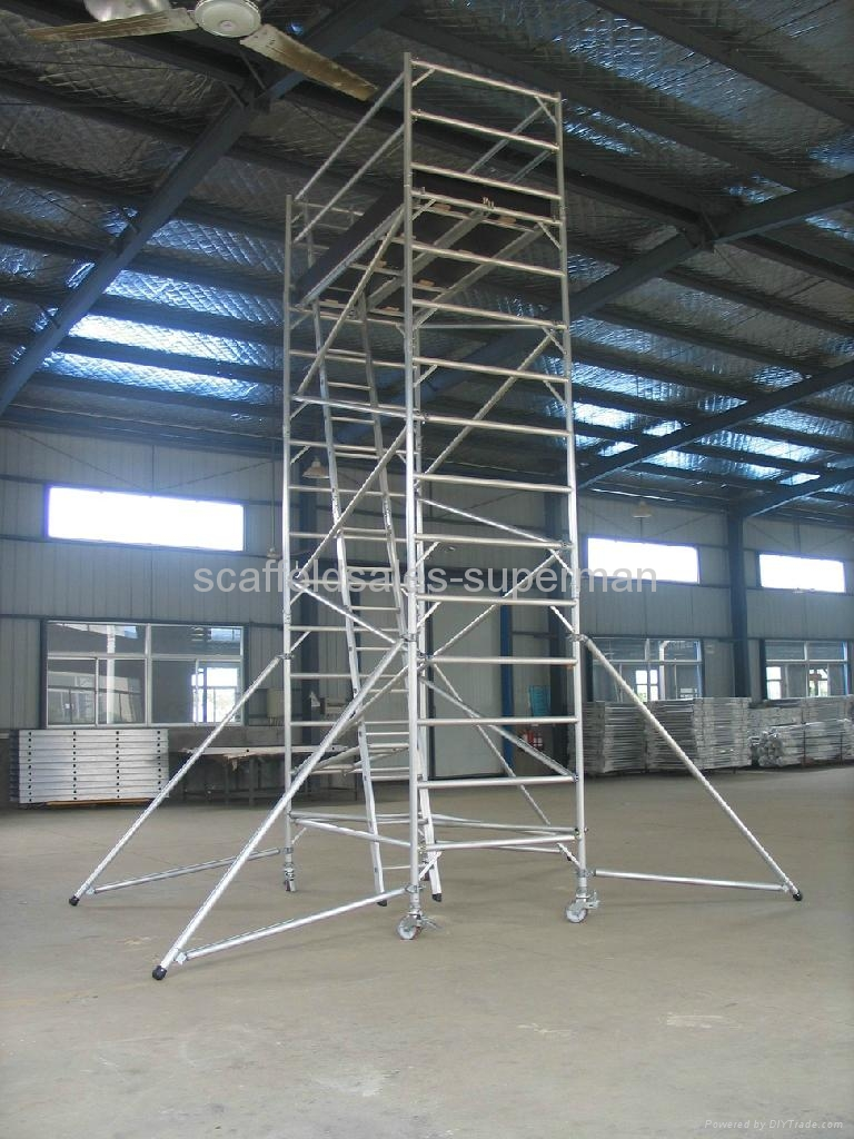 Aluminum Scaffold Tower : M aluminum scaffold tower alum superman