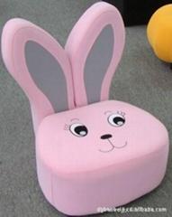 韩式粉色兔子儿童沙发