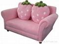 草莓儿童布藝沙發