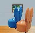 韓式粉色兔子儿童沙發 3