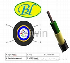 Central tube optical fiber cable by blowing