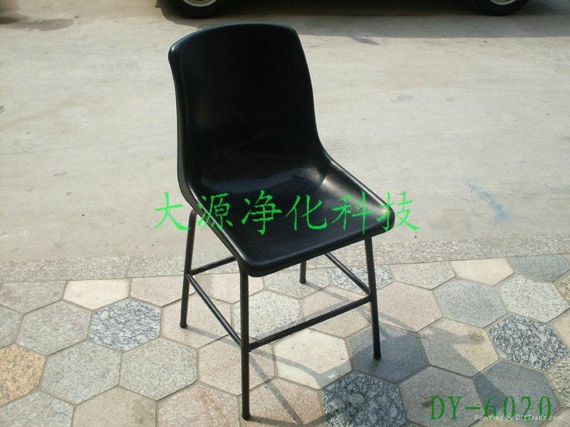防靜電四腳註塑靠背椅 1