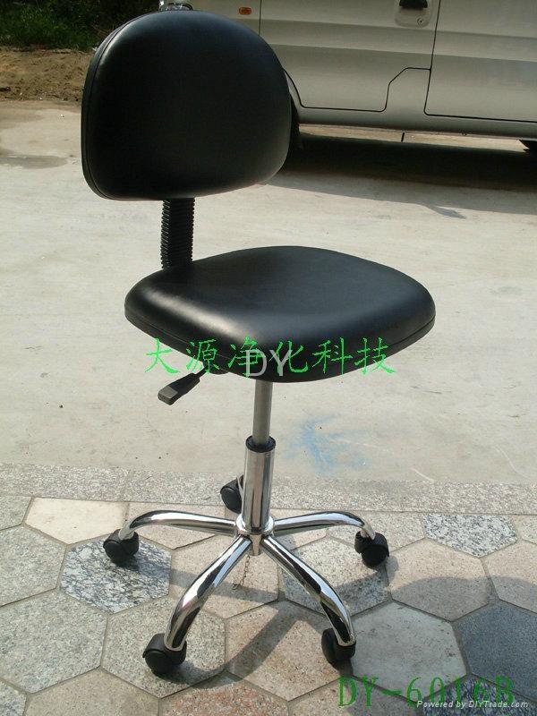 防靜電PU皮革靠背椅(腳輪) 1