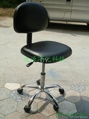 防静电PU皮革靠背椅(脚轮)