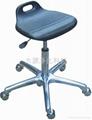防靜電PU發泡氣動昇降小靠背椅