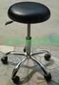 防靜電氣動昇降電鍍腳腳輪PU皮