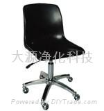 防靜電注塑昇降鍍鉻五星腳靠背椅子 1