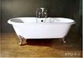 classical cast iron enamel bathtub