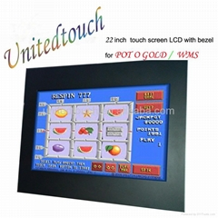 22inch gaming machines withIR  touch sreen for WMS/POT/FOX340