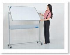移動式雙面白板水平演講板