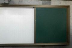 推拉绿板可配电子白板