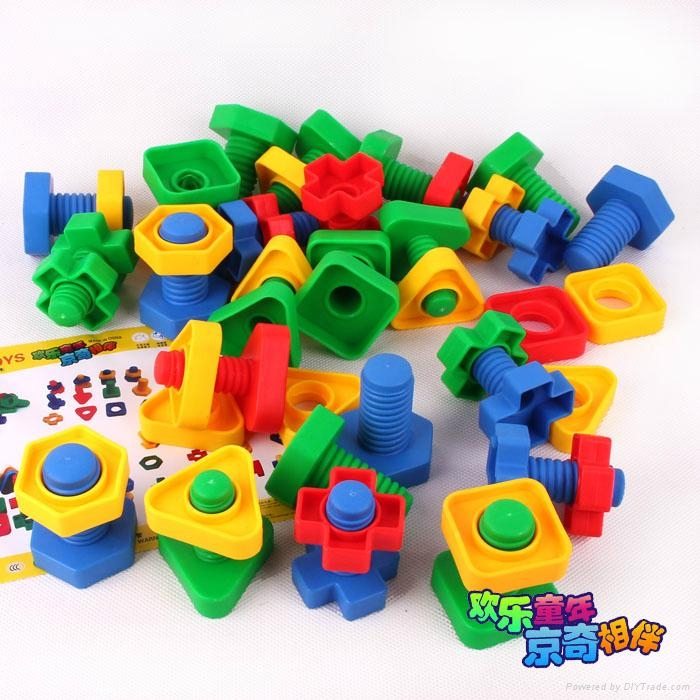 Construction Toys Product : Plastic construction bricks building blocks toyjq