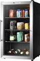 93L refrigerator--glass door