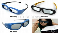 active shutter 3D glasses for projection