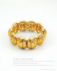 gorgeous gold plated fashion walnut shape bracelets