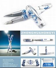青花瓷鋼筆